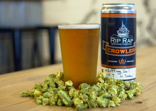 crowler and hops